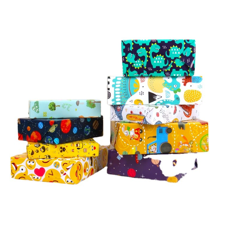 Children Design Cute Wrapping Paper for Packaging with Your Own Logo