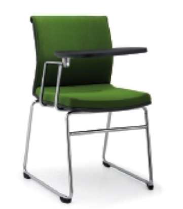 School furniture meeting fabric study office training chair with writing pad