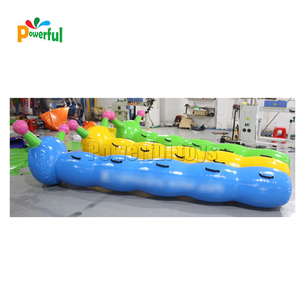 team building tube inflatable bouncy worm racing game