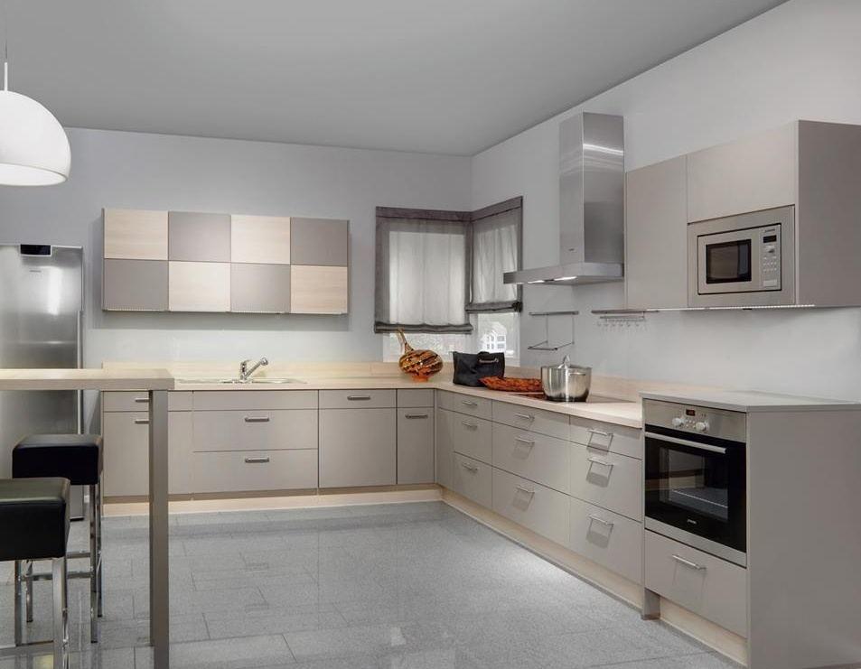 Eco-friendly Custom Good Price Grey Mdf Kitchen Cabinet Design