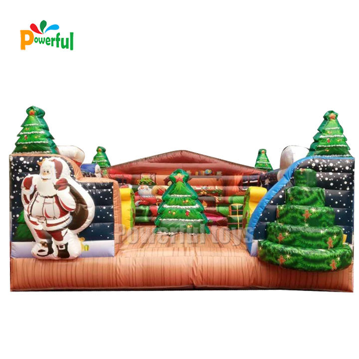 New design bouncy castle christmas inflatable christmas bouncer