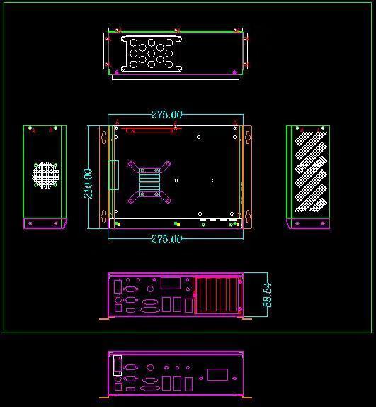 Modern design embedded box pc barebone system for LED display