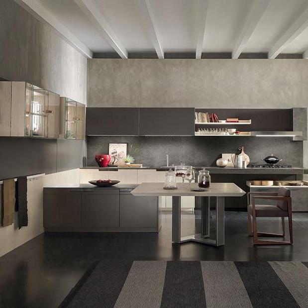 New Model Solid Wood Design Melamine Cabinets Kitchen Furniture Furniture