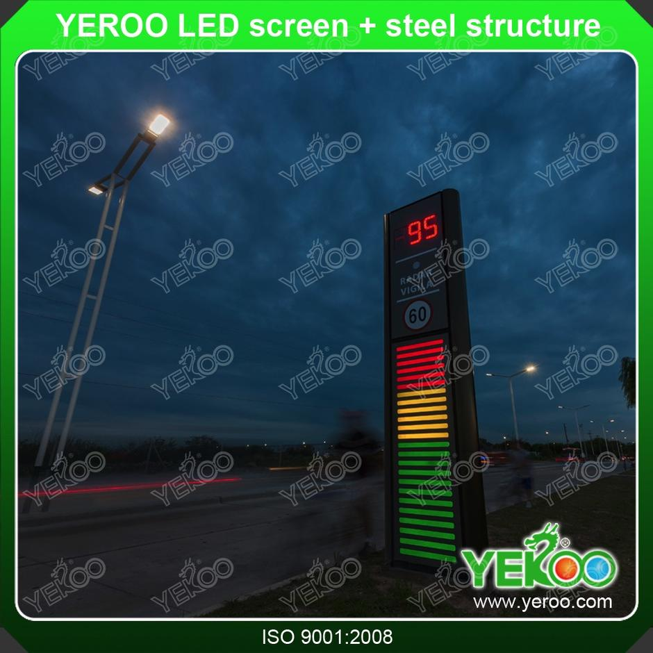 YEROO advertising LED screen pylon for gas station
