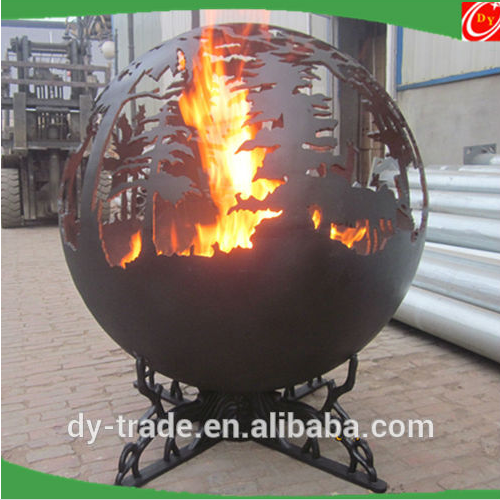 Art sculpture carbon steel fire pits ,steel sphere fire pits for outdoor decoration
