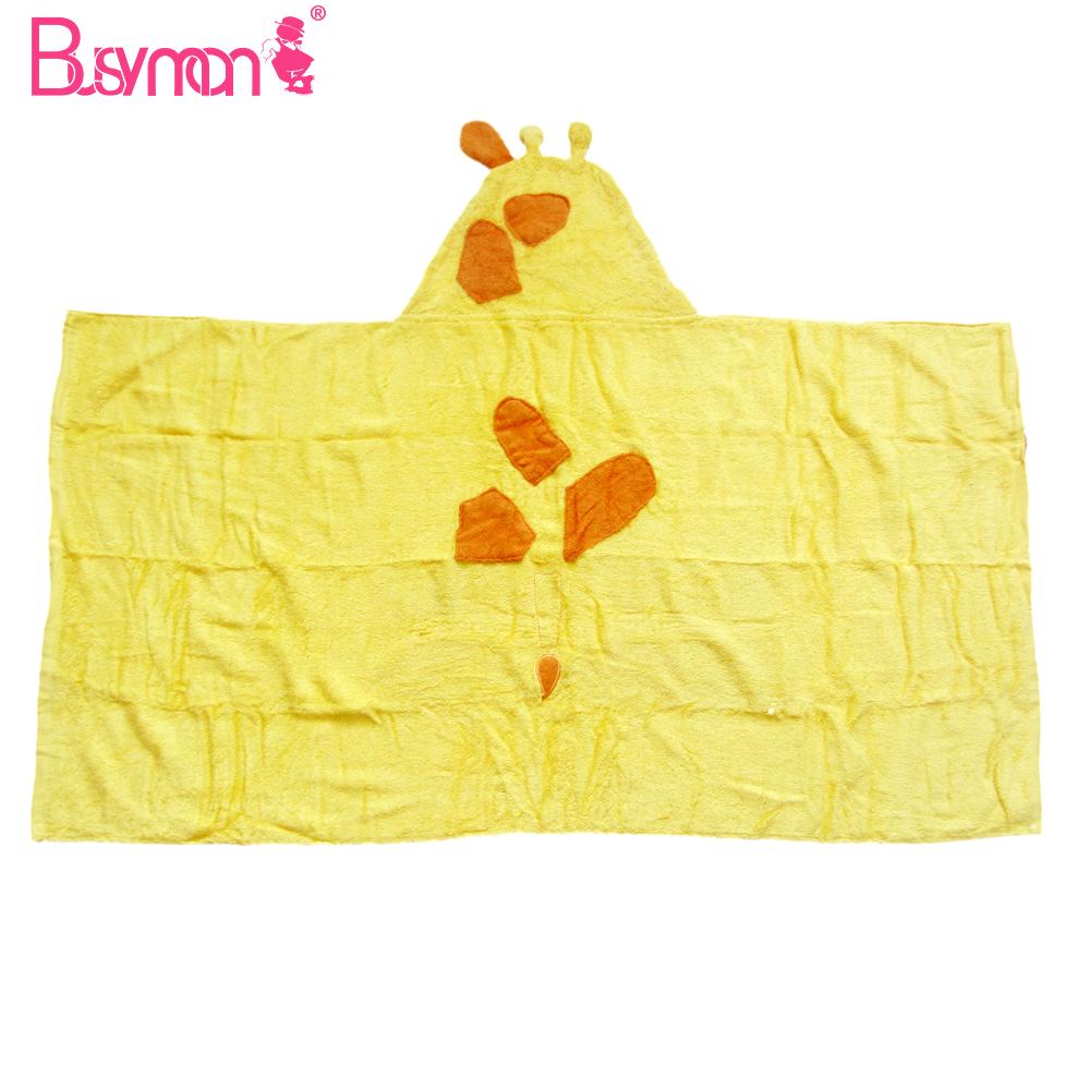 unique design organic 100% cotton hooded baby towel