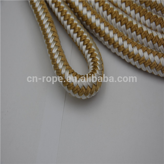rope 3mm to 28mm Prespliced double braided nylon white/blue