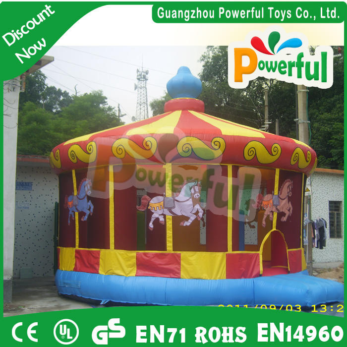 inflatable carousel bounce house inflatable jump house for sale