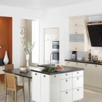 Modular White Melamine Kitchen Cabinets Cabinet Type,pvc Solid Wood Modern Graphic Design Lazy Susan Storage Drawer SLIDE Hotel