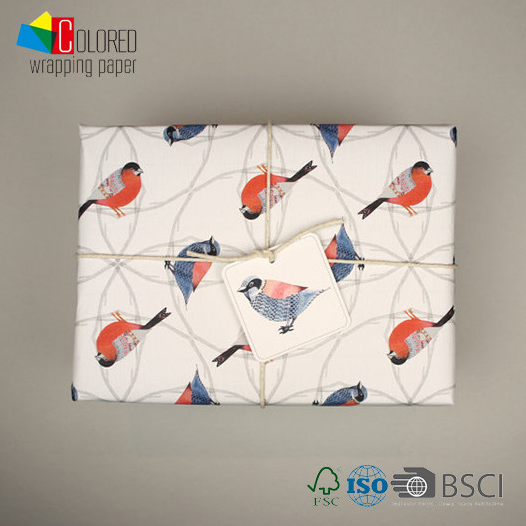Birds Printing Printed Gift Wrapping Paper Wholesale Packaging Paper Factory Direct