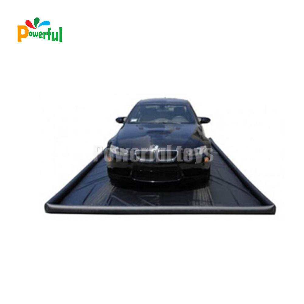 Durable PVC Portable Inflatable Car Wash Mats For Water Containment