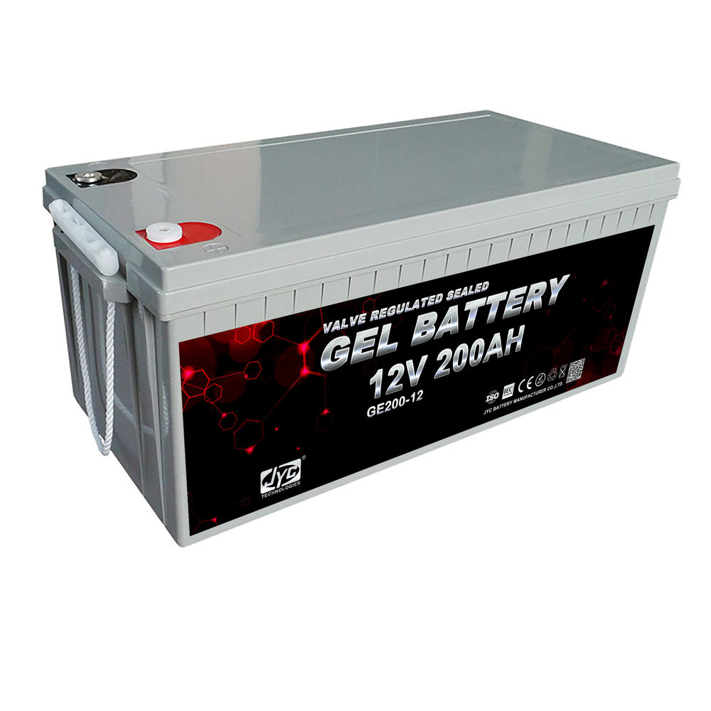 CE MSDS approved 12v 200ah dry cell rechargeable battery for solar