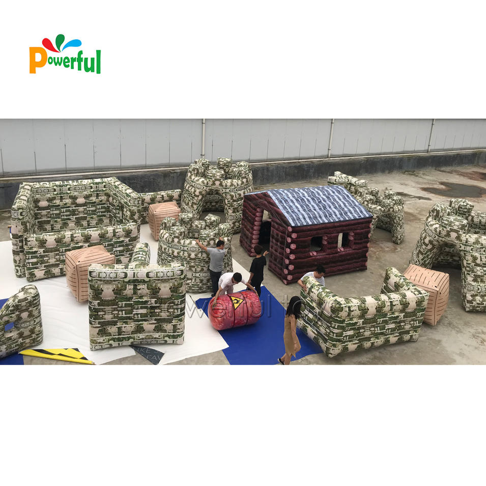 23 Pcs for 1 Set Inflatable Air Paintball Bunkers for Outdoor Sport Games