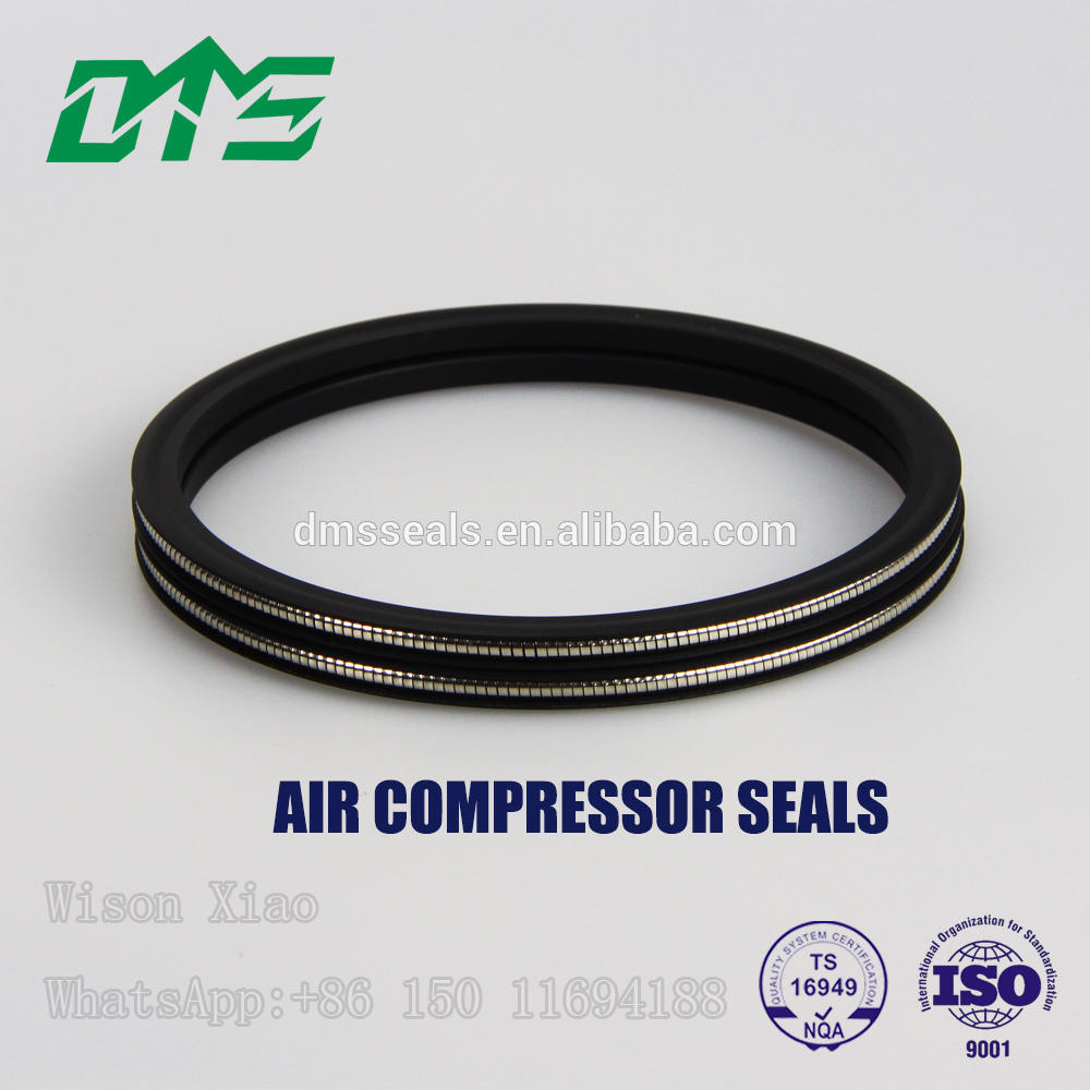 25% Carbon-graphite filled PTFE Piston Wear Ring for Oil Free Air Compressor