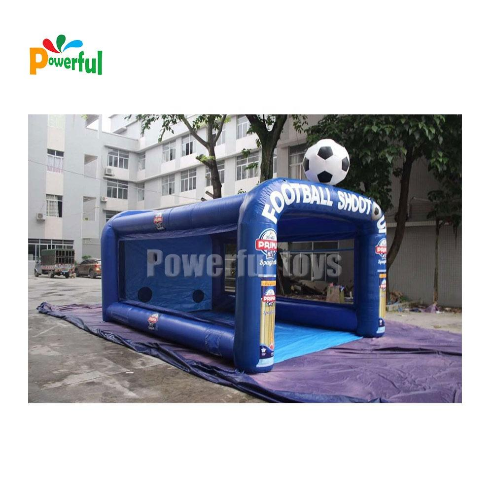 Newest designed inflatable football goal carnival inflatable football soccer shooting target