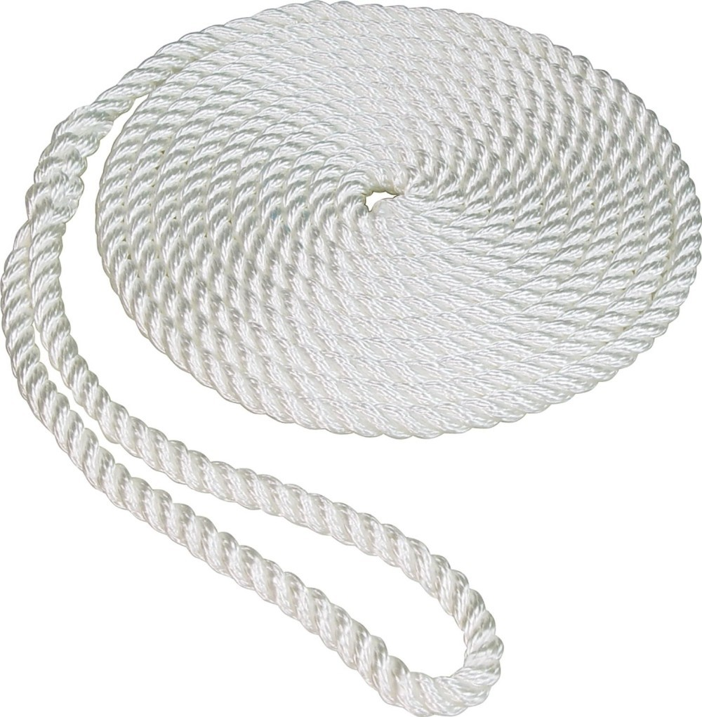 mooring ropes, double braided, 3-strand twisted, yacht accessories,