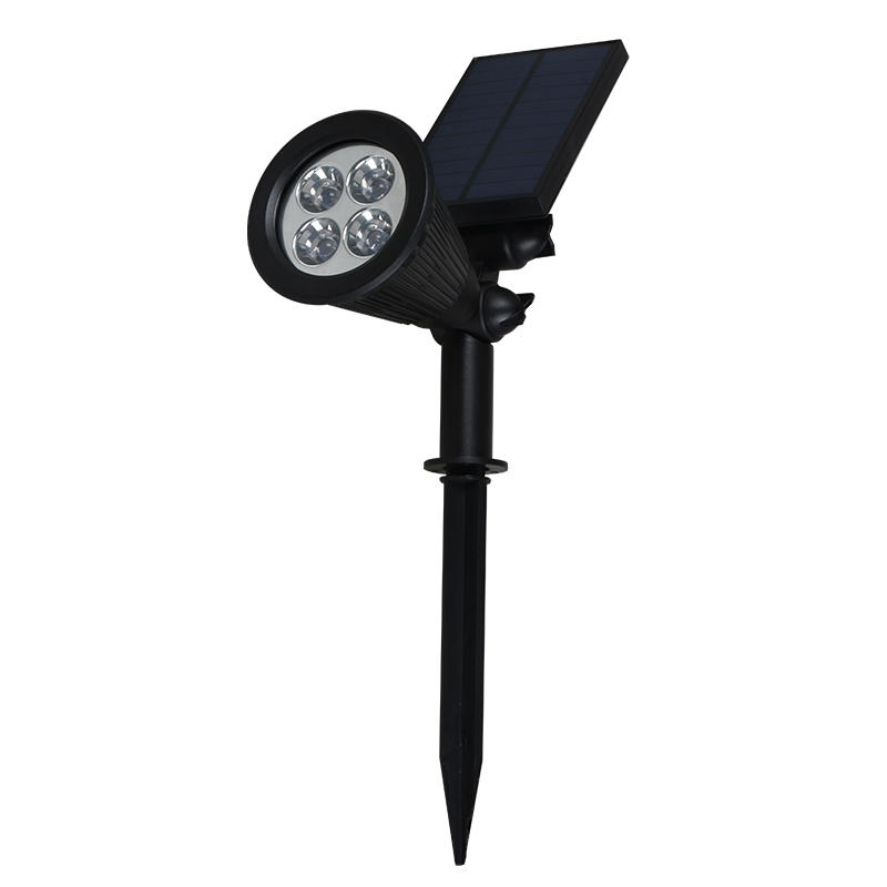 Energy saving waterproof abs rgb 2w solar led garden light