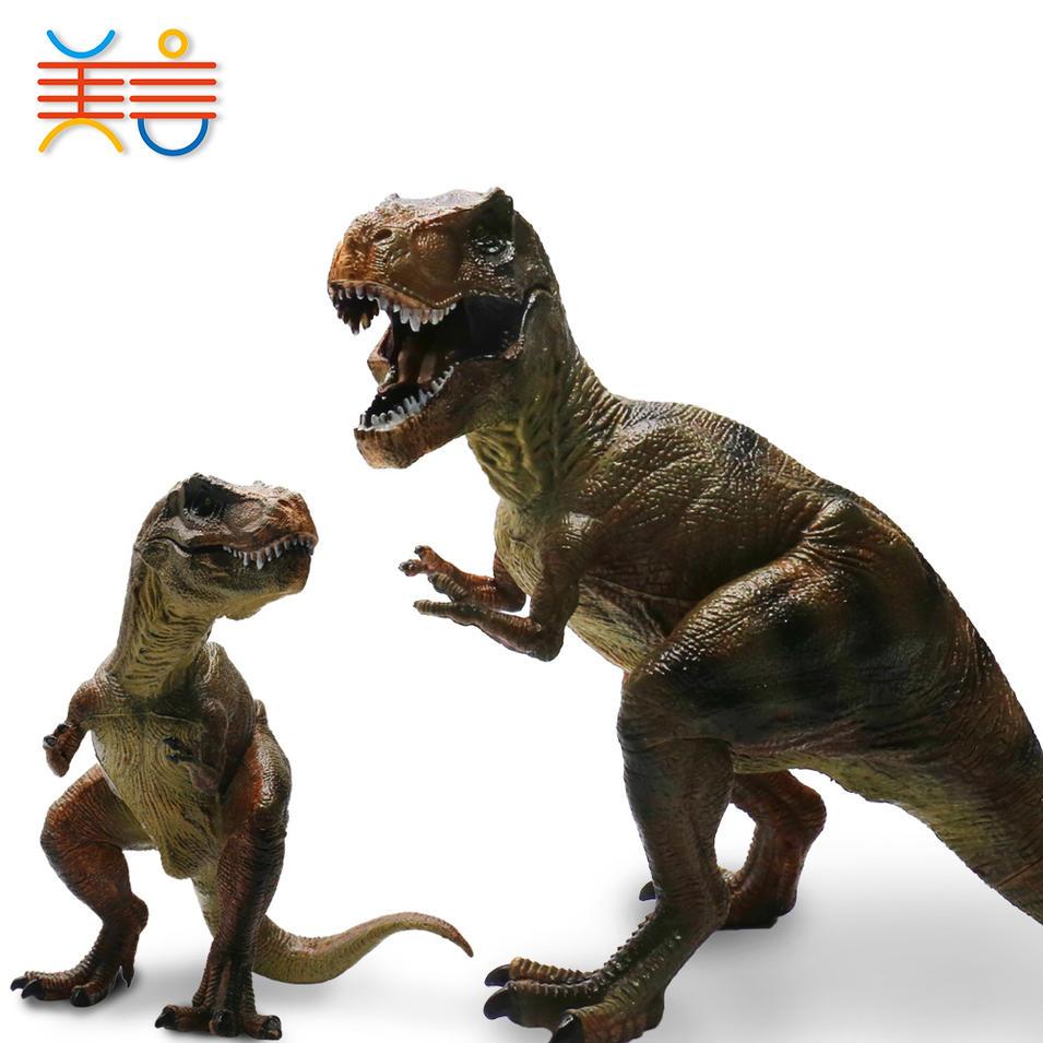 juguetes al por mayor Wholesale Cheap mini dinosaur wildlife animal promotional plastic toy for kids