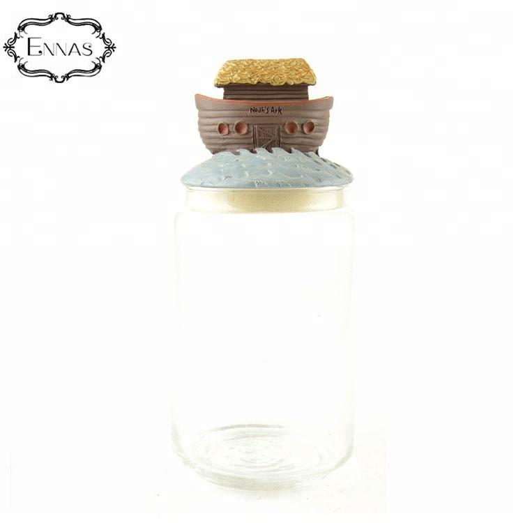 Cheap Resin Decorative Clear Glass Food Storage Containers Decoration Cookie Jar