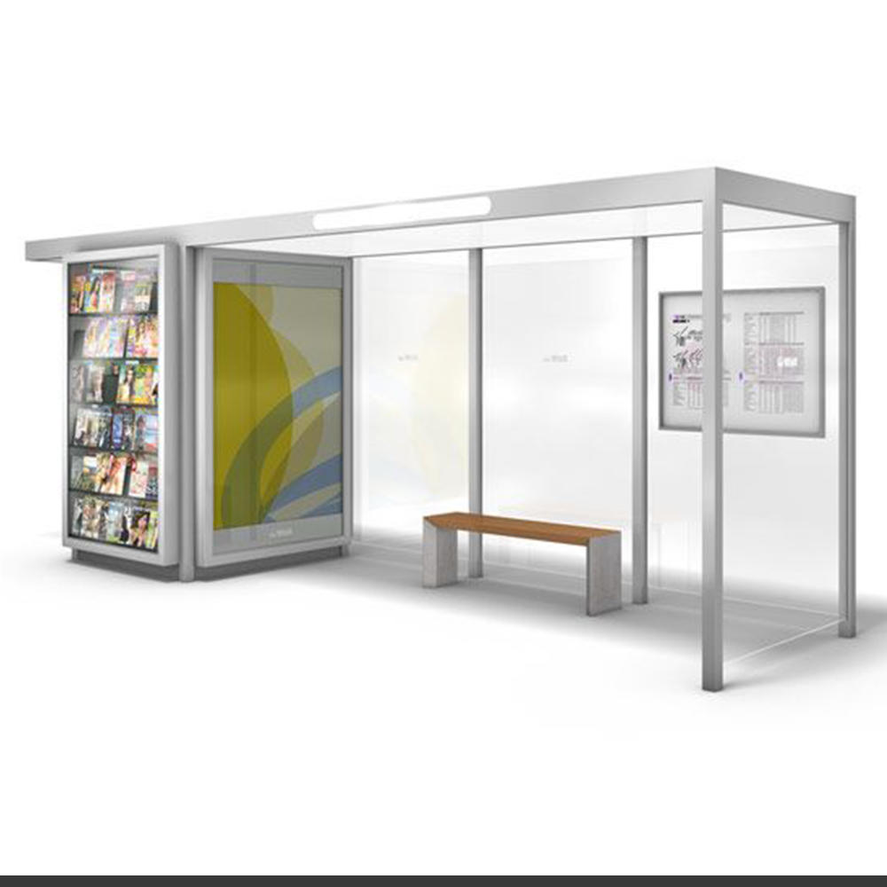 outdoor transit prefabricated bus shelters modern bus shelter