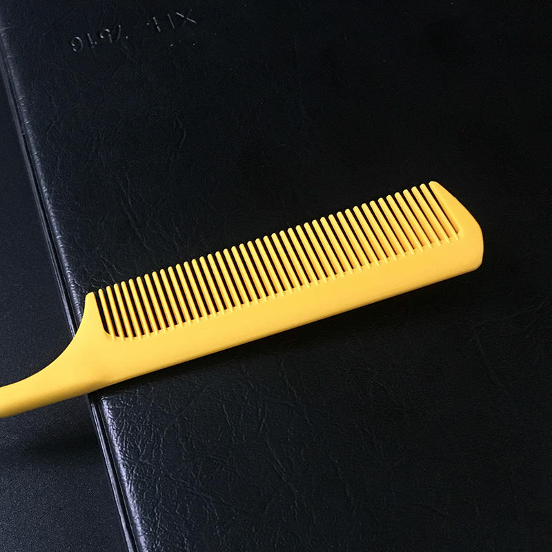 private label hot selling professional resist-high temperature salon and home use pom antistatic tail comb