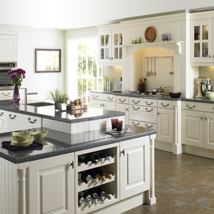 China solid wood traditional kitchen cabinet storage cupboard