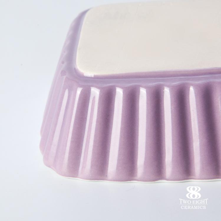 Custom Made Small Square Porcelain Food Dish Ceramic Sauce Dish