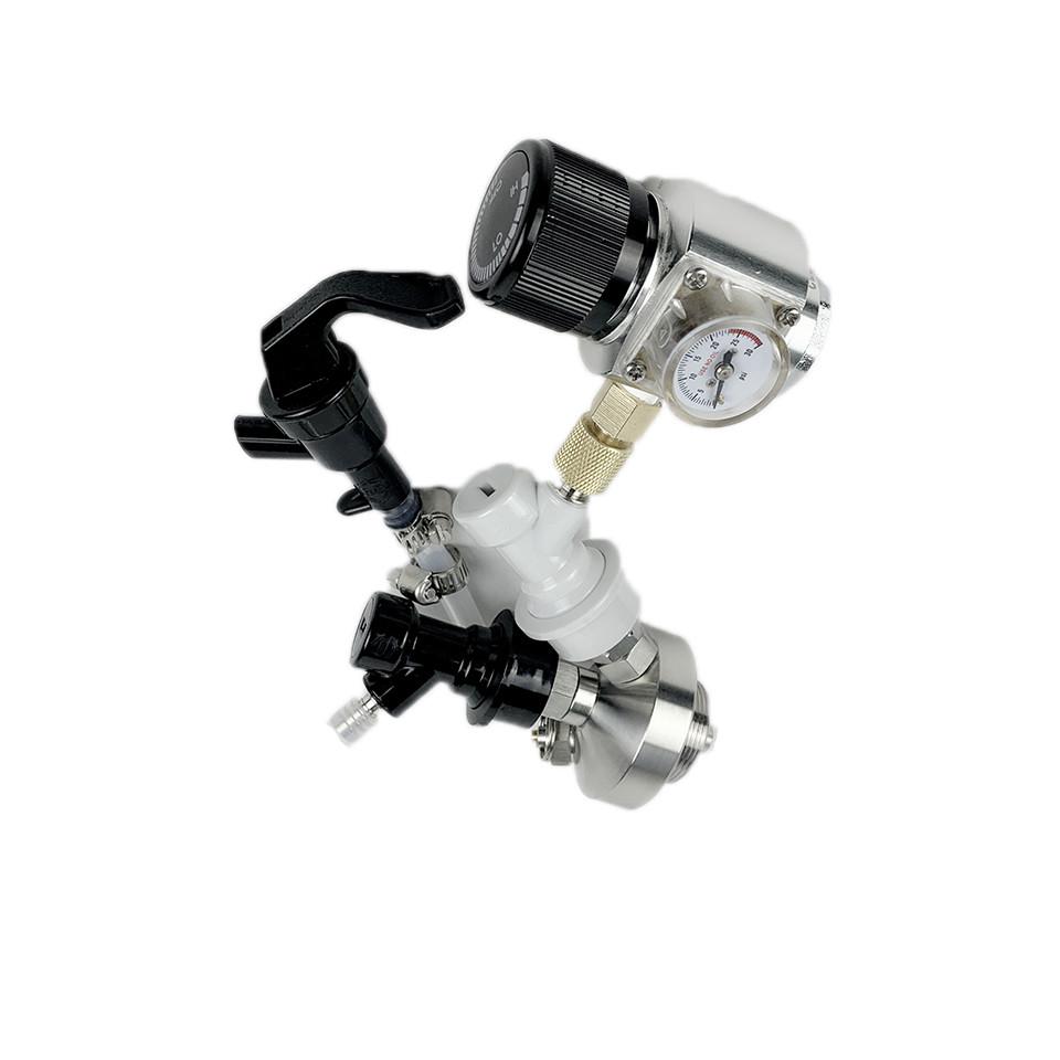 beer mini keg with co2 regulator gas liquid ball lock adjustable thread tap dispenser