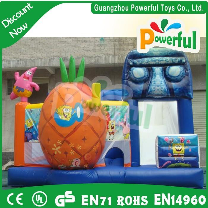 high quality 0.55mm PVC inflatable egypt bouncing castles combo, inflatable jumping castle