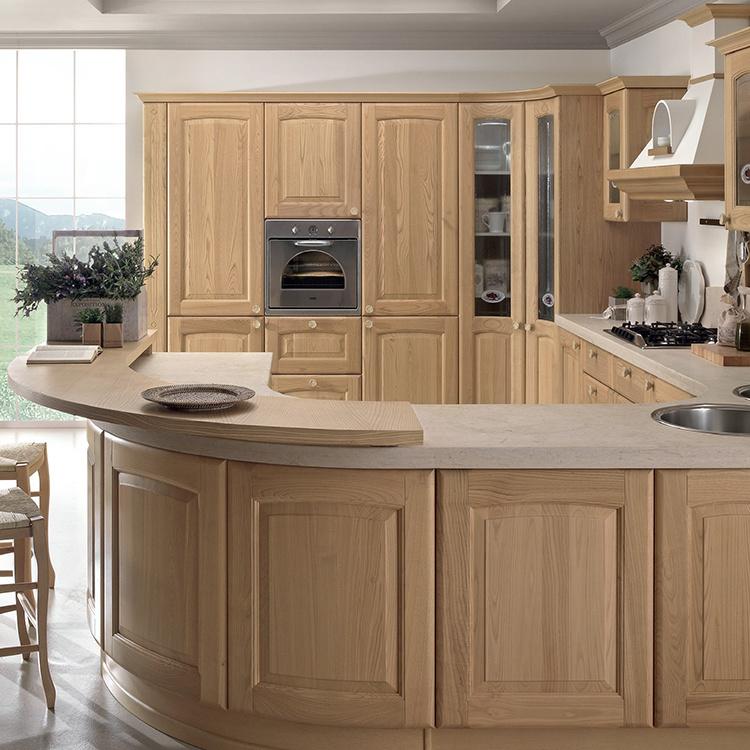 Hot saleamerican modern oak solid wood antique furniture kitchen cabinet