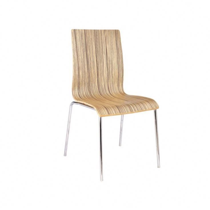 canteen furniture Stackable bentwood cafeteria dining sled base metal chair