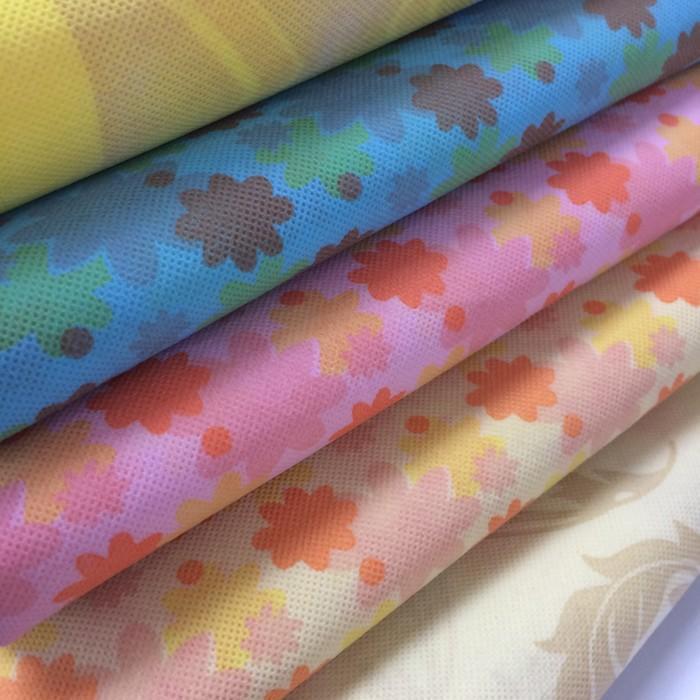 High Quality Printed Spun bonded polypropylene printed non woven fabric