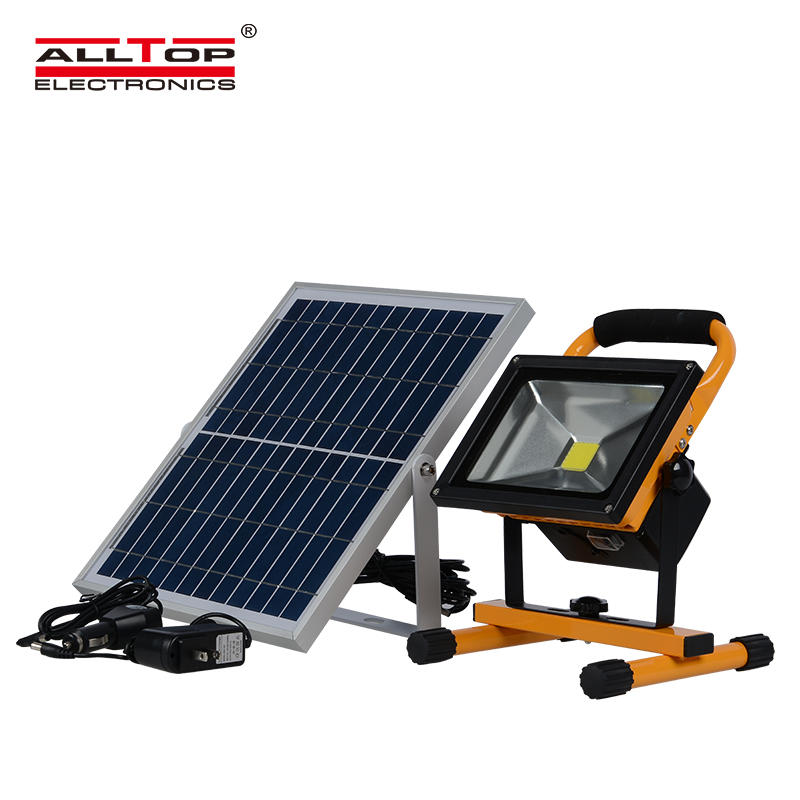 Outdoor ip65 rechargeable color changing 30w led solar flood light
