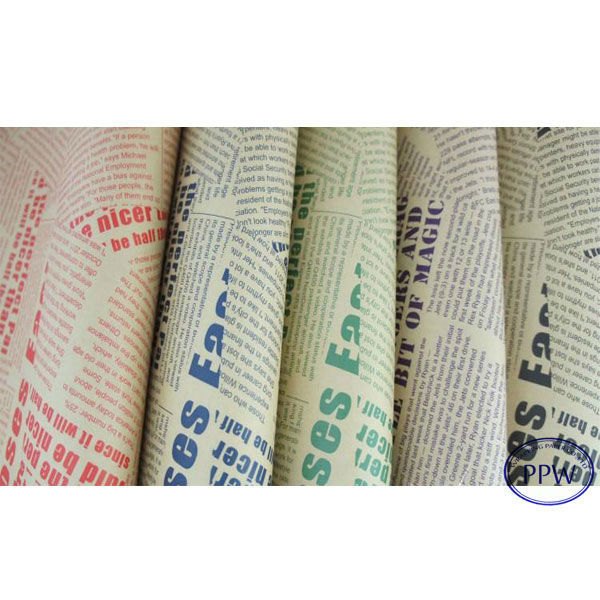 New Design Words Printed Kraft Colorful Paper Roll for Gift Wrapping