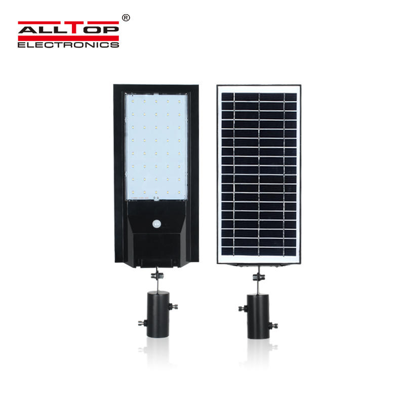 ALLTOP 2020 new design solar chargingAdjustable Angle IP65 Waterproof 9w 14w Integrated All In One Solar Led Street Light
