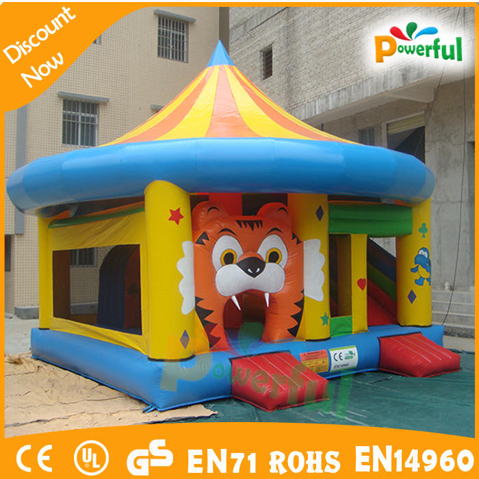 Hot sales inflatable tiger bouncer for kids