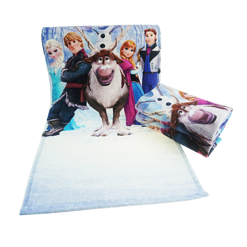 Frozen picture custom printed bath towel 70*140 travel beach towels