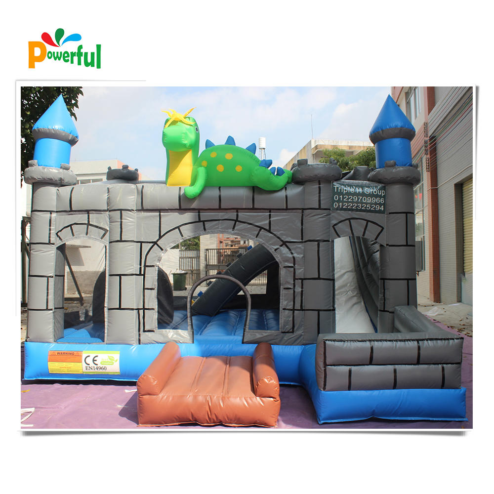 Commercial inflatable dragon jumping bouncer castle