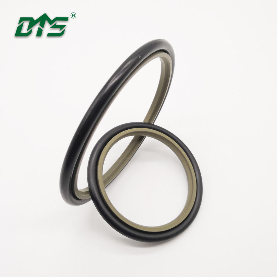 China DMS bronze ptfe ring buffer hydraulic step rod seal