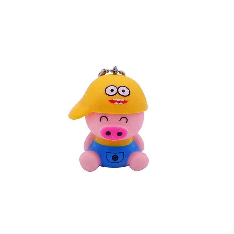 Lovely Cartoon Pig Animal Shape Keychain Promotional Gift Keyring Keychain manufacturers