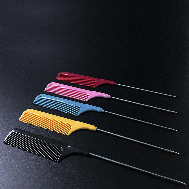 Tip Tail Comb Metal Tailed Hair Comb For Hair Hairdresser Comb For Hair Extensions Tools