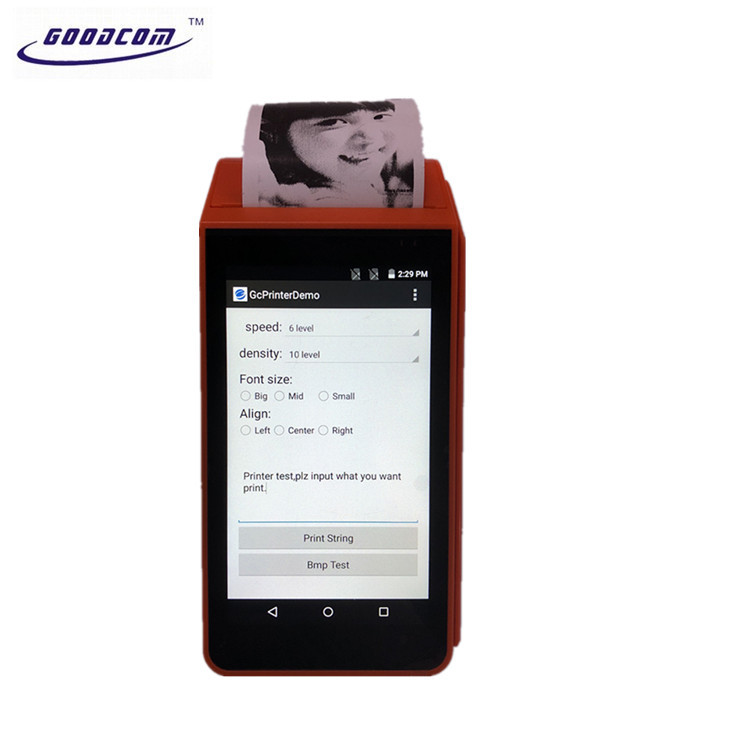 Dual SIM Smart Android Handheld Thermal Receipt Printer for USSD Mobile Recharge