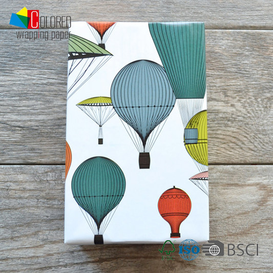 Fire Balloon Design Gift Wrapping Paper