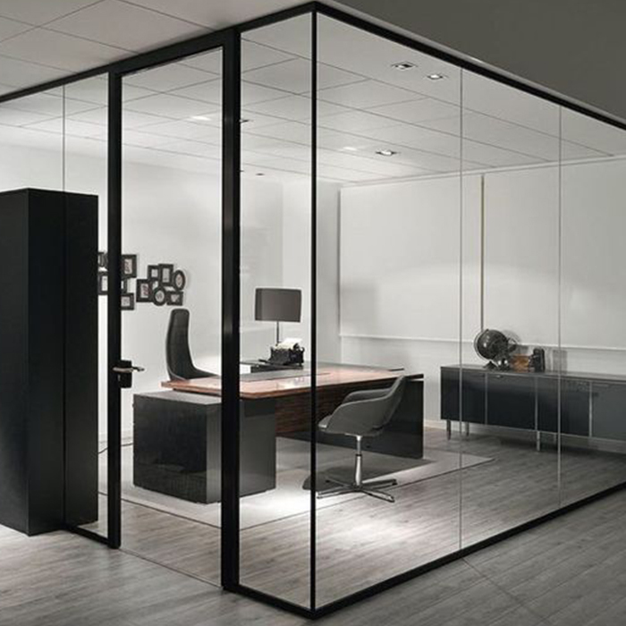 Modern high standard double glazing office partition
