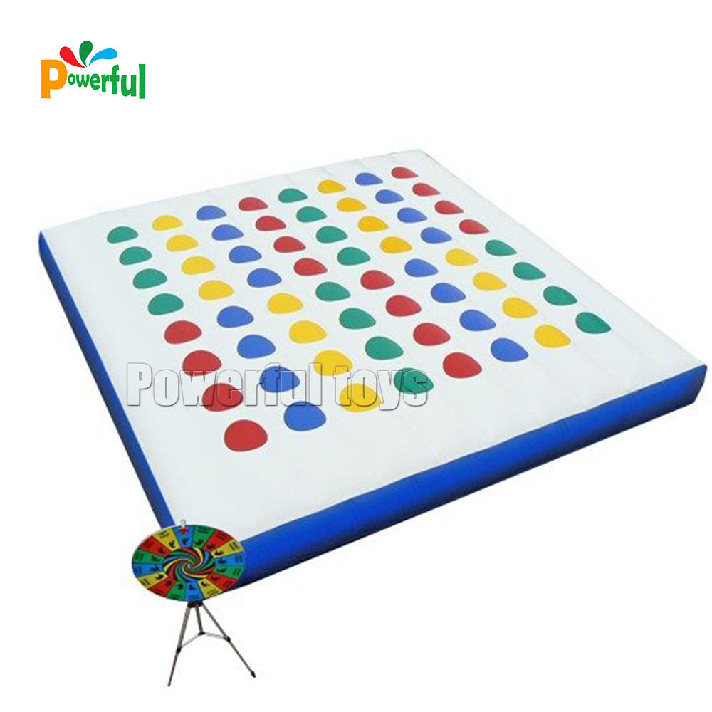Inflatableinteractive game mega twister game for adults
