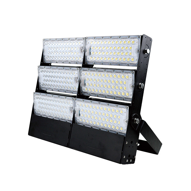Waterproof Exterior 500w led floodlight for football field 75000 lumens 50000 stadium light height of masts 10m
