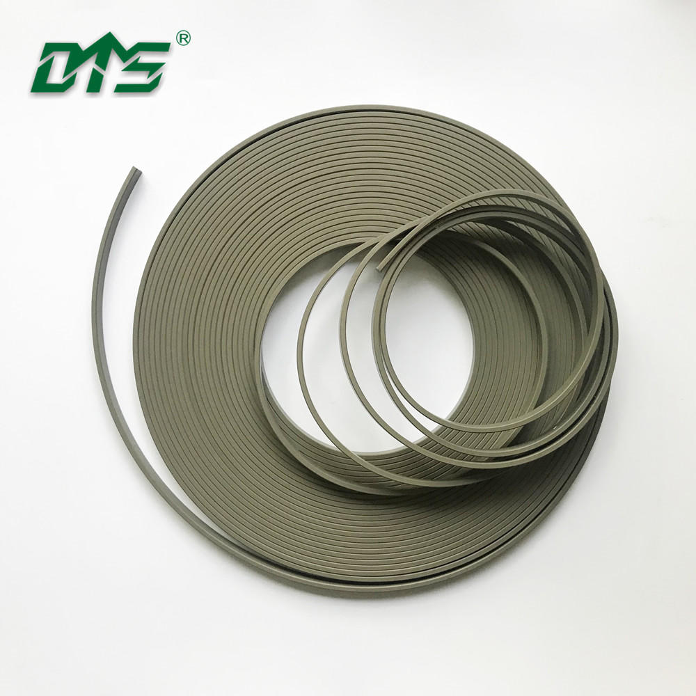 Green and Brown Knurling Wear Strips for Piston Guiding