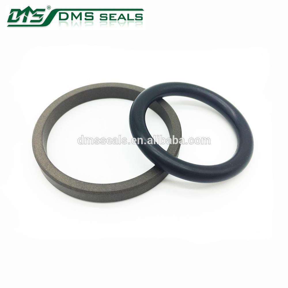 Compressor Piston Seals,Oil Free PTFE+Carbon fiber+Graphite Material Seal