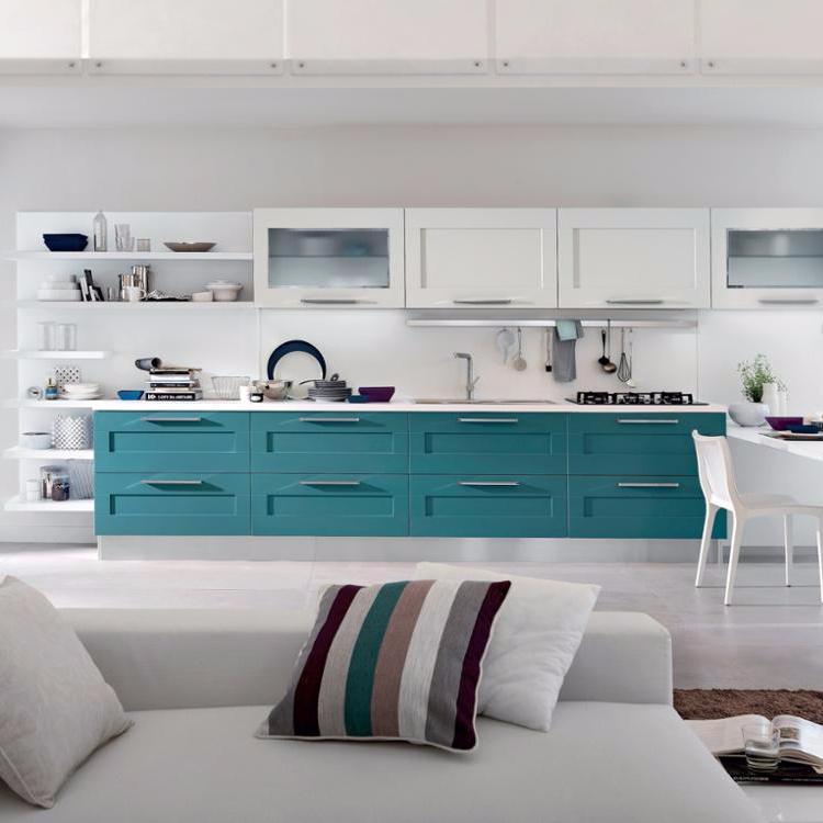Ready Made Kitchen Cabinet New Design PVC Membrane Kitchen Cabinets Furniture