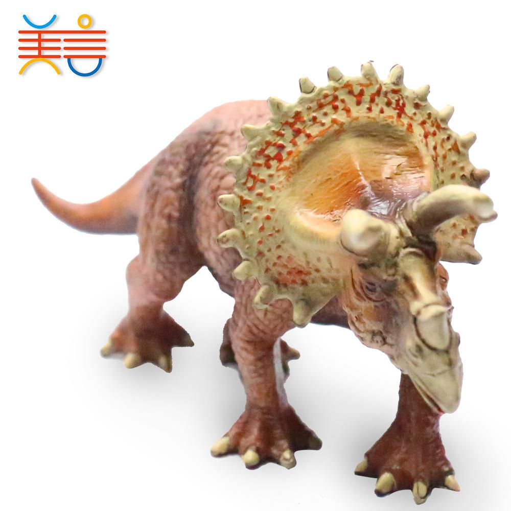 12 kinds mixed 7'' plastic solid dinosaur toy for dinosaur theme park souvenir gift
